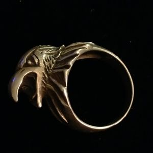 Sterling Shrieking Eagle Ring